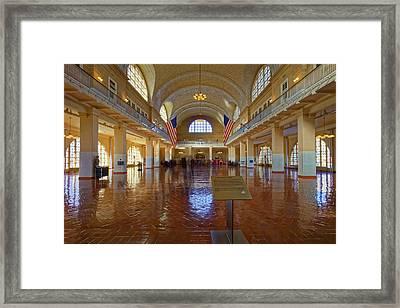 Ellis Island Registry Room Framed Print