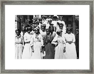 Ellis Island West Indians Framed Print by Granger