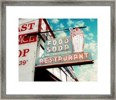 Elliston Place Soda Shop Framed Print