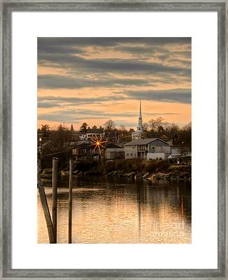 Ellsworth Sunset Framed Print