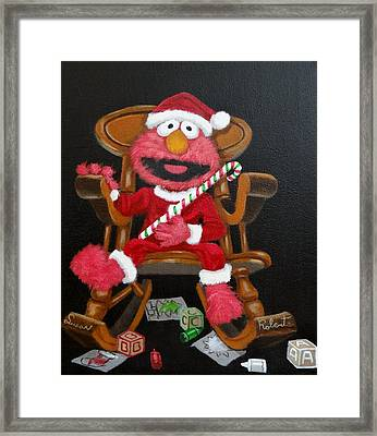 Framed Print featuring the painting Elmo  by Susan Roberts