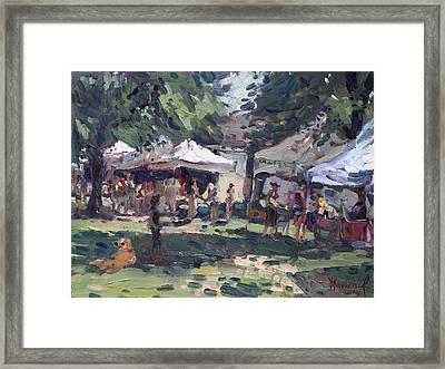 Elmwood-bidwell Farmers Market Framed Print by Ylli Haruni