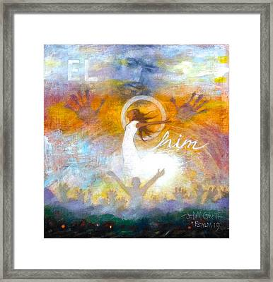 Elohim Framed Print by Janet McGrath