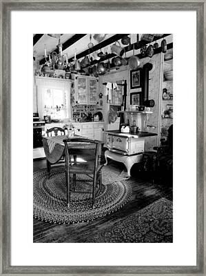 Eloise's Kitchen Bw Framed Print by Cindy McIntyre