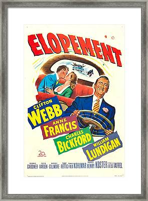 Elopement, Us Poster, From Left William Framed Print by Everett