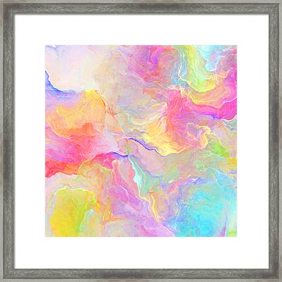 Eloquence - Abstract Art Framed Print by Jaison Cianelli