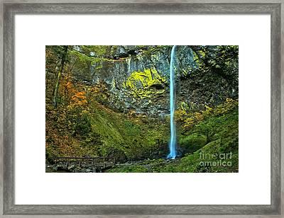 Elowah Falls Framed Print by Adam Jewell