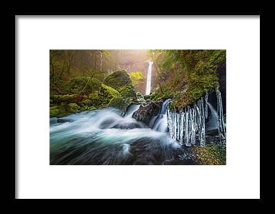 Icicles Framed Prints