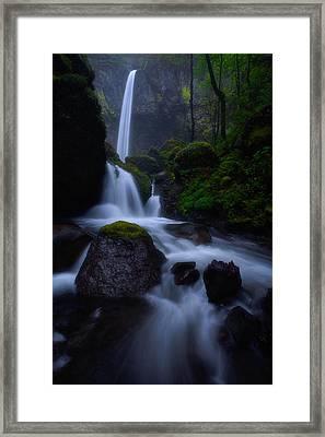 Elowah's Mist Framed Print by Darren  White
