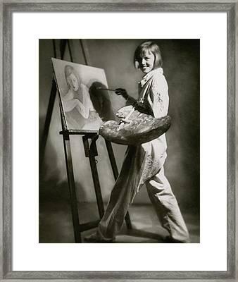Elsa Von Reppert Bismarck Painting Framed Print by Rolf Mahrenholz
