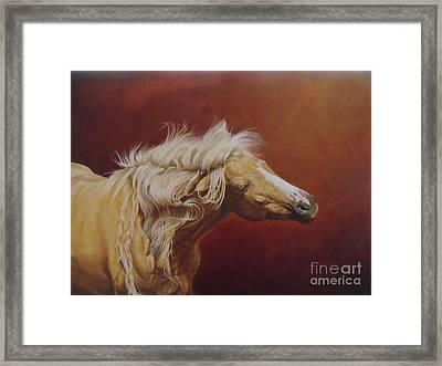 Elsa's Shake Framed Print by Pauline Sharp