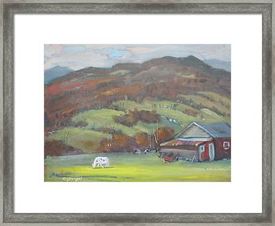 Framed Print featuring the painting Elsie by Len Stomski
