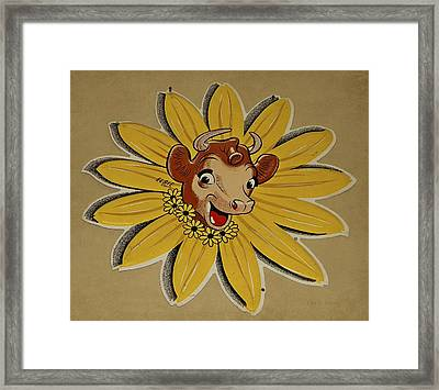 Elsie The Borden Cow  Framed Print