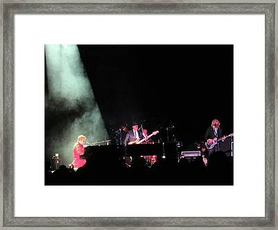 Elton And Band Framed Print by Aaron Martens