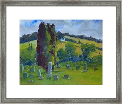 Elton Cemetary Framed Print by Philip Hewitt