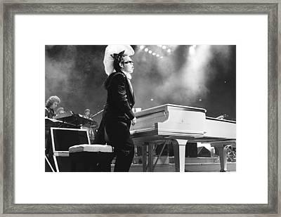 Elton John '86 Framed Print by Chris Deutsch