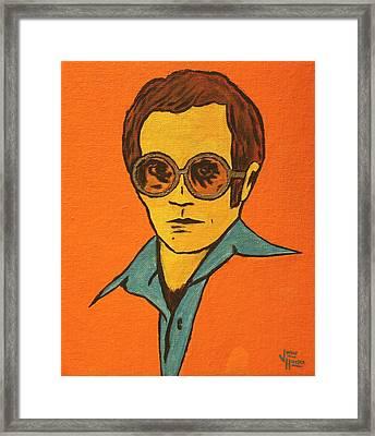 Elton John Framed Print by John Hooser
