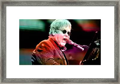 Elton John Framed Print by Marvin Blaine
