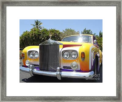 Elton John's Old Rolls Royce Framed Print by Barbie Corbett-Newmin