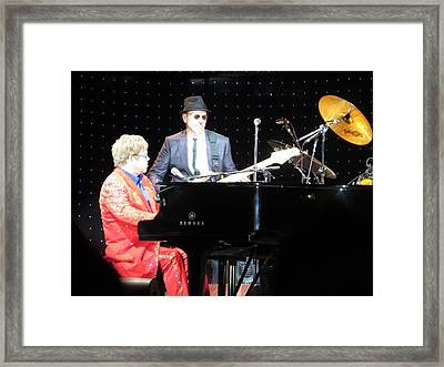 Elton Plays The Blues In Macon Ga Framed Print by Aaron Martens