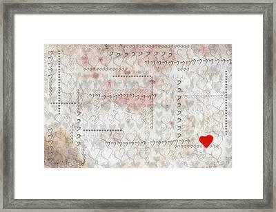 Elusive Love Framed Print
