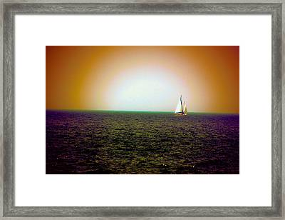 Elusive Sails Framed Print
