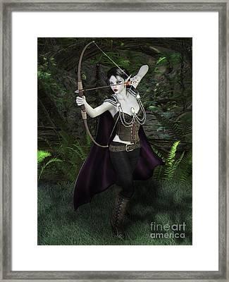Elven Archer Female Framed Print