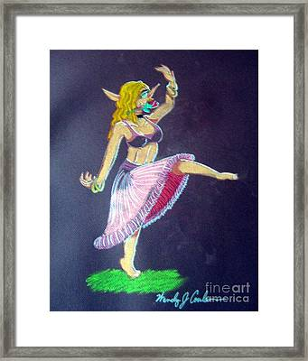 Elven Belly Dancer Framed Print by Wendy Coulson