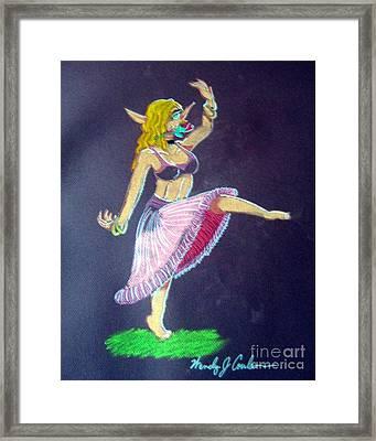 Elven Belly Dancer Framed Print