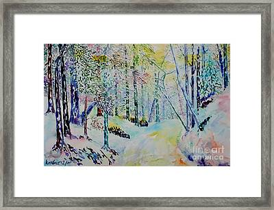 Framed Print featuring the painting Elves Way by Alfred Motzer