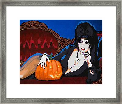 Elvira Dark Mistress Framed Print
