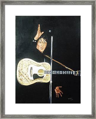 Elvis 1956 Framed Print by Bryan Bustard