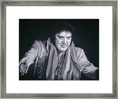 Elvis 1977 Framed Print by Martha Suhocke