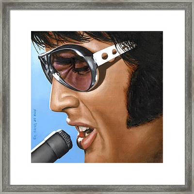 Elvis 24 1970 Framed Print by Rob De Vries