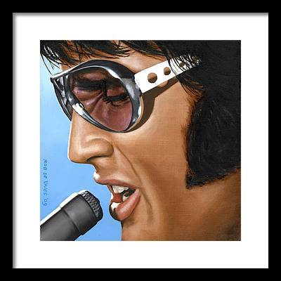 Elvis Framed Prints