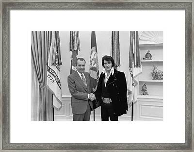 Elvis And The President Framed Print by Mountain Dreams