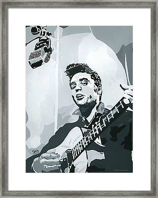 Elvis At Sun Framed Print by Suzanne Gee