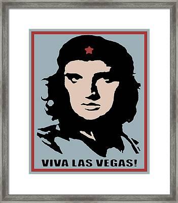 Elvis Che Guevara Viva Las Vegas Framed Print