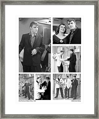 Elvis Collage Framed Print by Chuck Staley