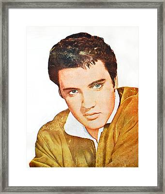 Elvis Colored Portrait Framed Print