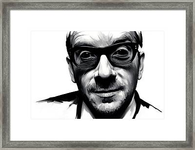 Elvis Costello Artwork Framed Print by Sheraz A