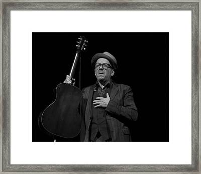 Framed Print featuring the photograph Elvis Costello by Jeff Ross