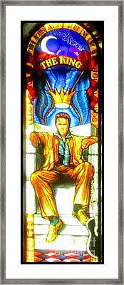 Elvis Framed Print by Crystal Loppie