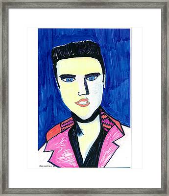 Framed Print featuring the painting Elvis by Don Koester