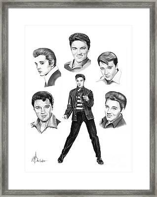 Elvis Elvis Elvis Framed Print by Murphy Elliott
