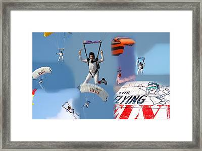Elvis In The Sky Framed Print
