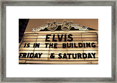 Elvis Is In Framed Print by David Lee Thompson