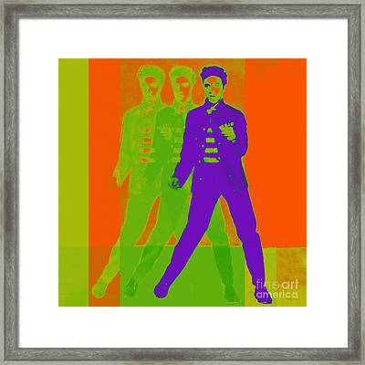 Elvis Jail House Rock 20130215m28 Framed Print by Wingsdomain Art and Photography