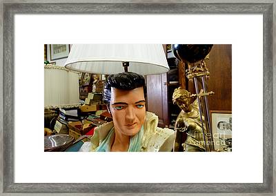 Elvis Lamp In Antique Shop Framed Print by Amy Cicconi