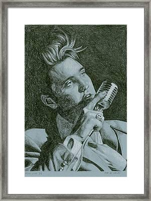 Elvis Live '56 Framed Print by Rob De Vries